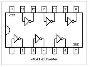HEX Invertor IC 7404